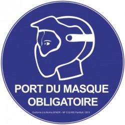Panneau Afnor ''Port du masque''