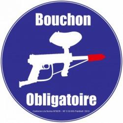 Panneau Afnor ''Bouchon de canon''