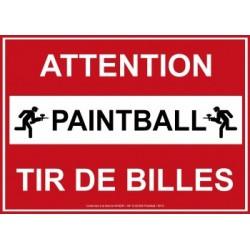 Panneau Afnor ''Attention Paintball''