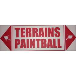 Panneau ''Terrains Paintball''