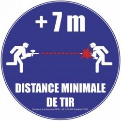 Panneau Afnor ''Distance de tir - 7mètres''