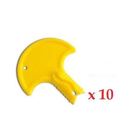 Bouchon de canon jaune * 10unités