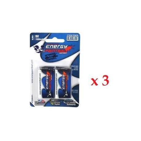 Energy Paintball - lot de 6 piles 9V