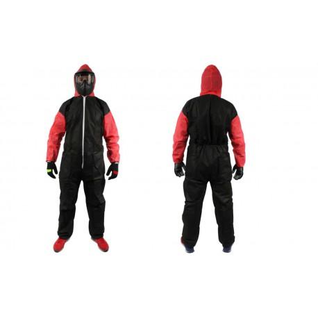 Combinaison Jetable Adulte - 34 gr - Taille XXL - Black & Red