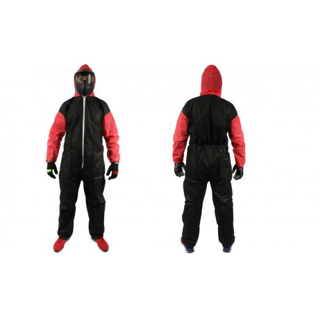 Combinaison Jetable Enfant - 34gr - Taille S - Black&Red