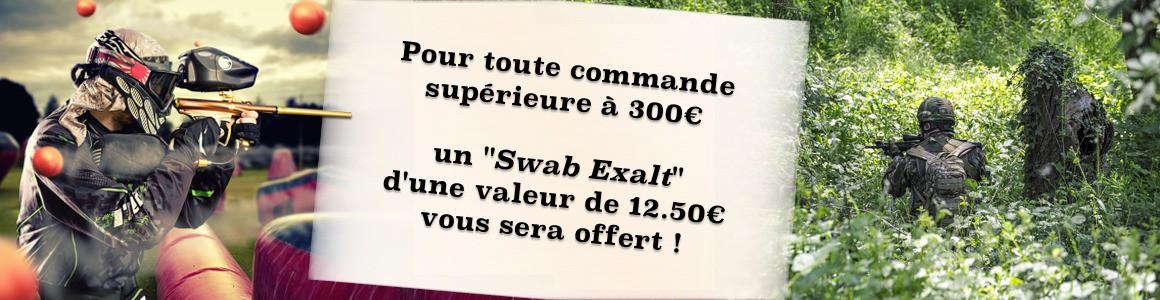 Swab Exalt offert pour une commande superieure à 300 euros